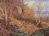 Archibald Thorburn Autumn at Loch Maree painting