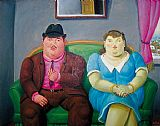 Fernando Botero Man And Woman painting