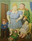 Fernando Botero The General And His Family painting